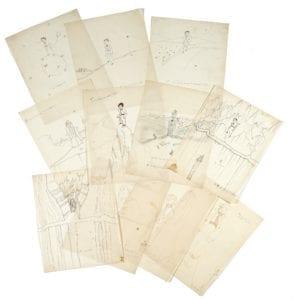 onze 11 dessins saint exupéry Petit Prince enchères auctionlab
