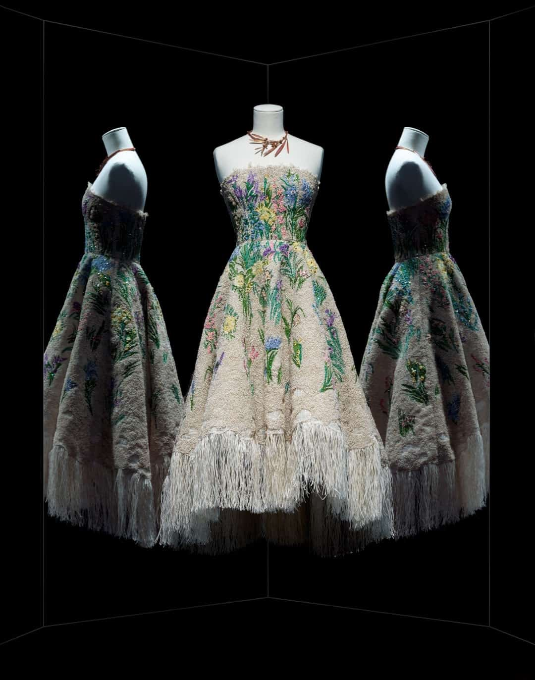 robe floral christian dior exposition