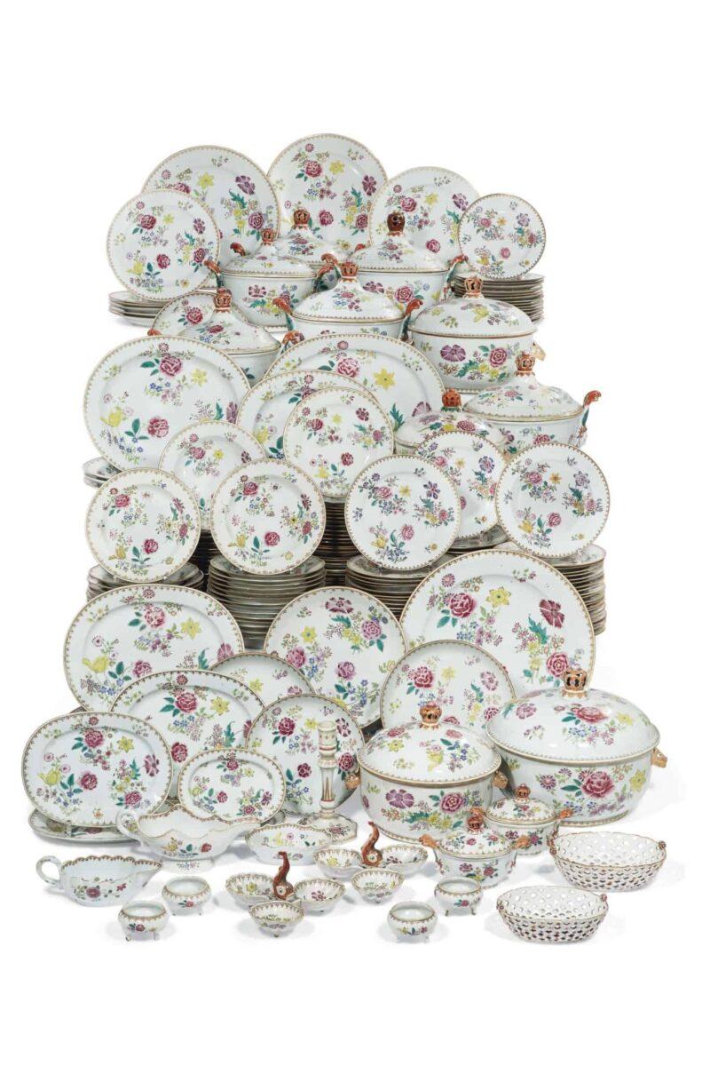 service porcelaine chine Alberto Pinto décorateur enchères