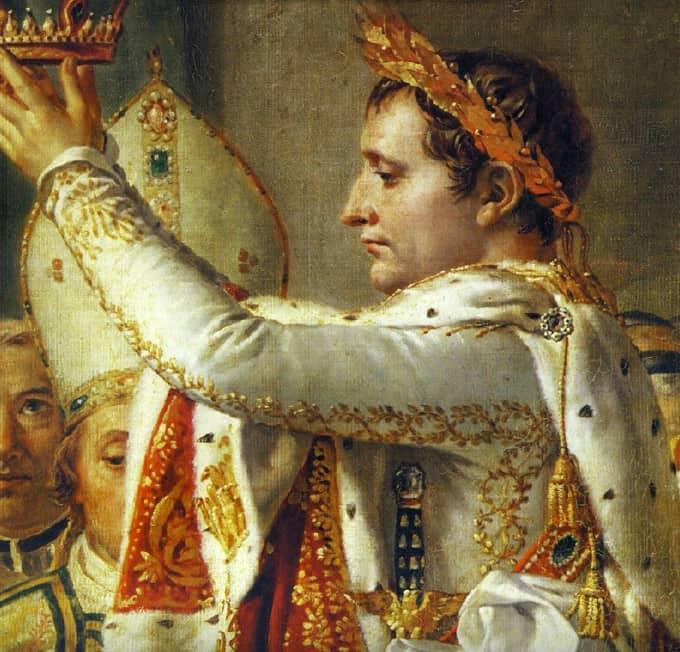 Feuille ord couronne Napoléon sacre Osenat enchères Fontainebleau