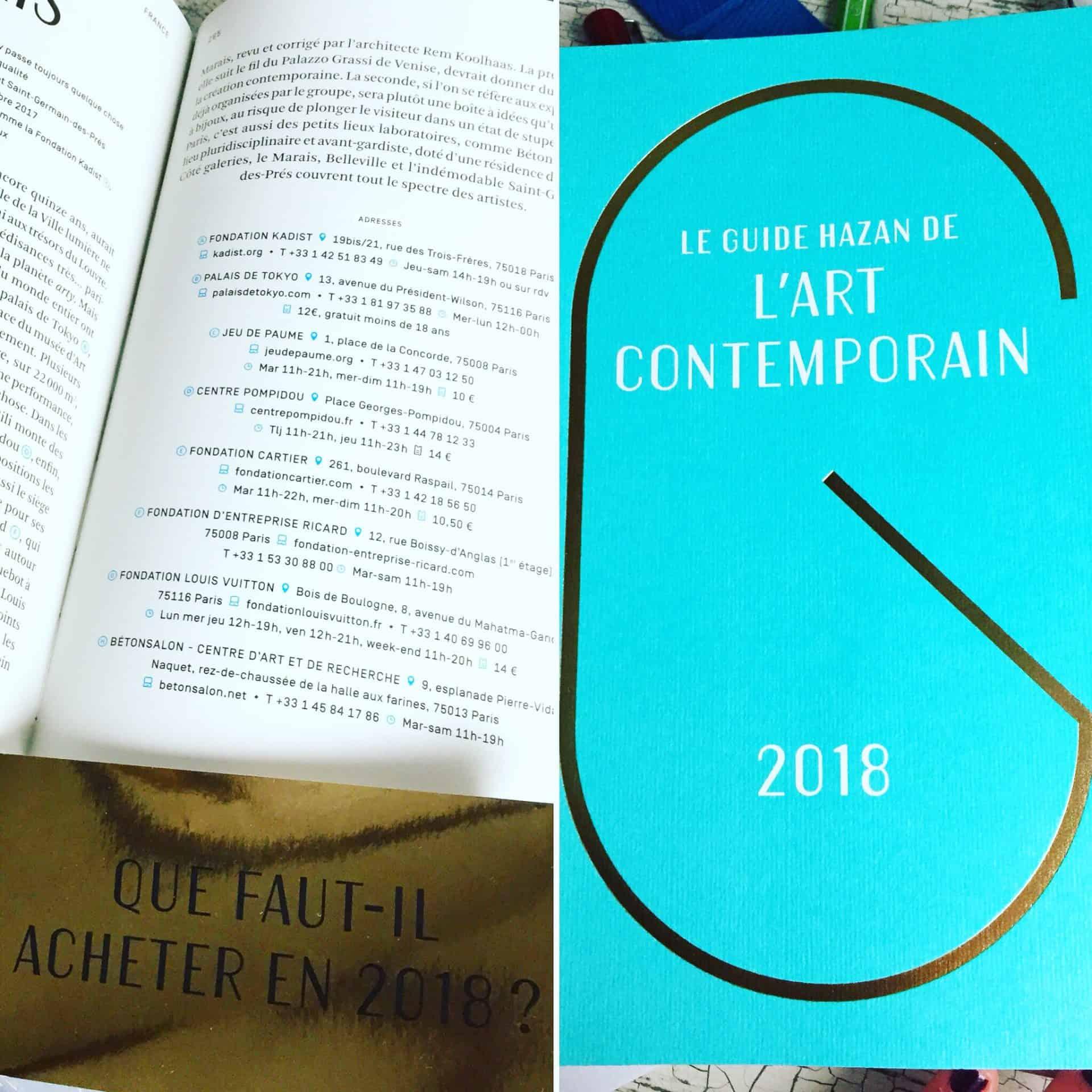 Guide Hazan de l'art contemporain 2018