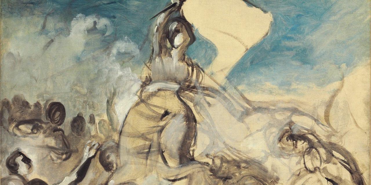 Le dessin préparatoire de Delacroix  pour «la Liberté Guidant le Peuple»  aux enchères