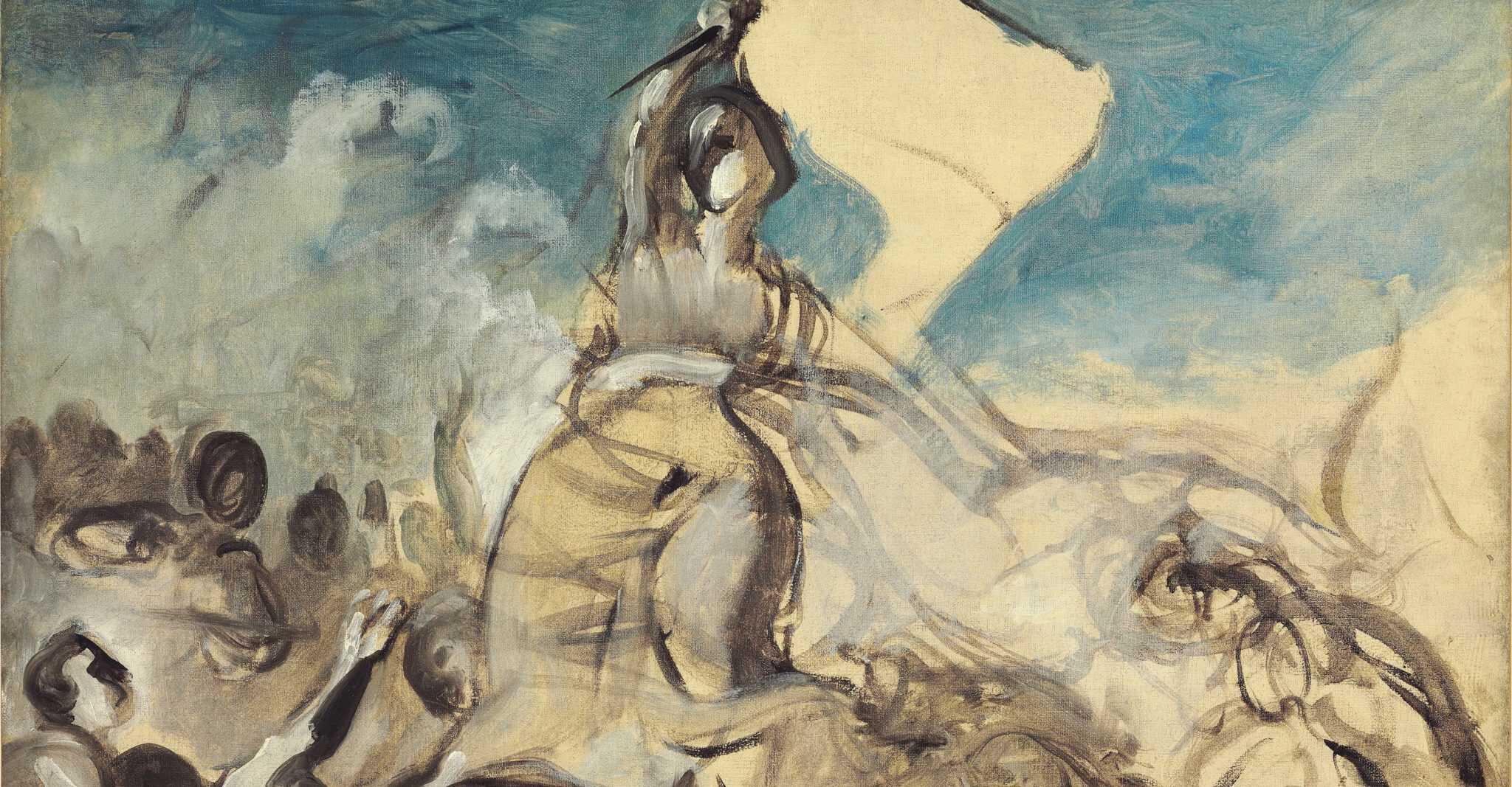 Delacroix esquisse dessin préparatoire liberté guidant le peuple Christie's enchères