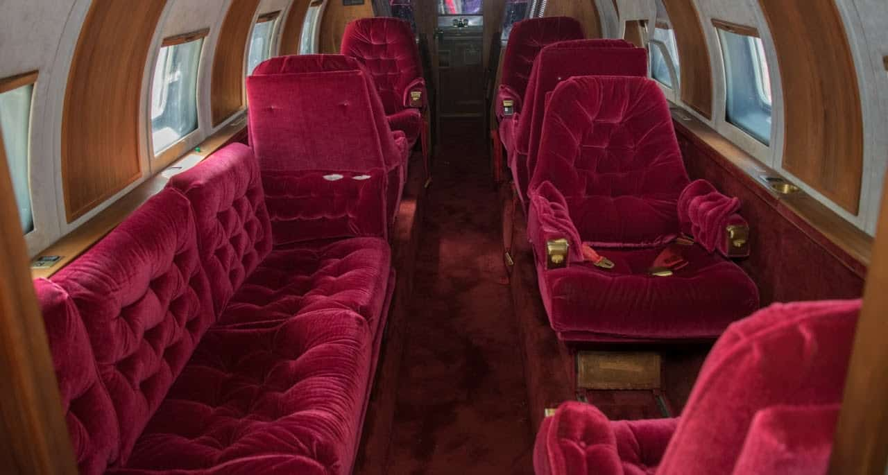 Intérieur jet privé enchères Elvis Presley
