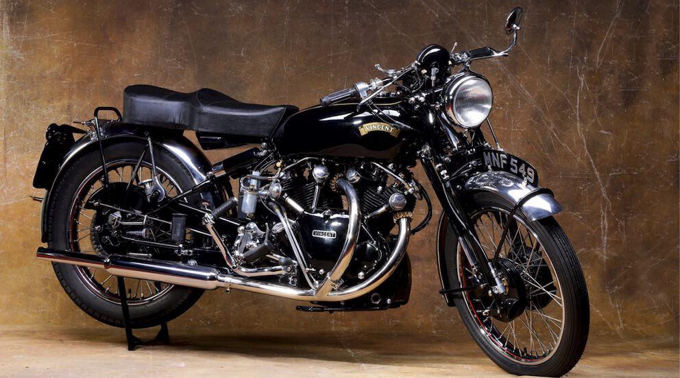 Black Shadow Vincent moto Osenat enchères