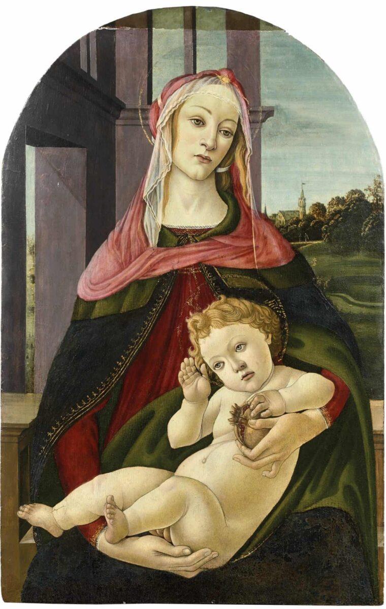 Madone à la Grenade enchères Botticelli
