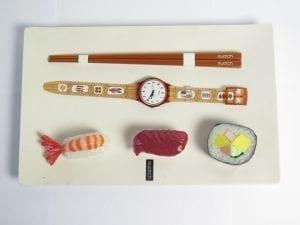Collection montre Swatch aux enchères montre Sushis