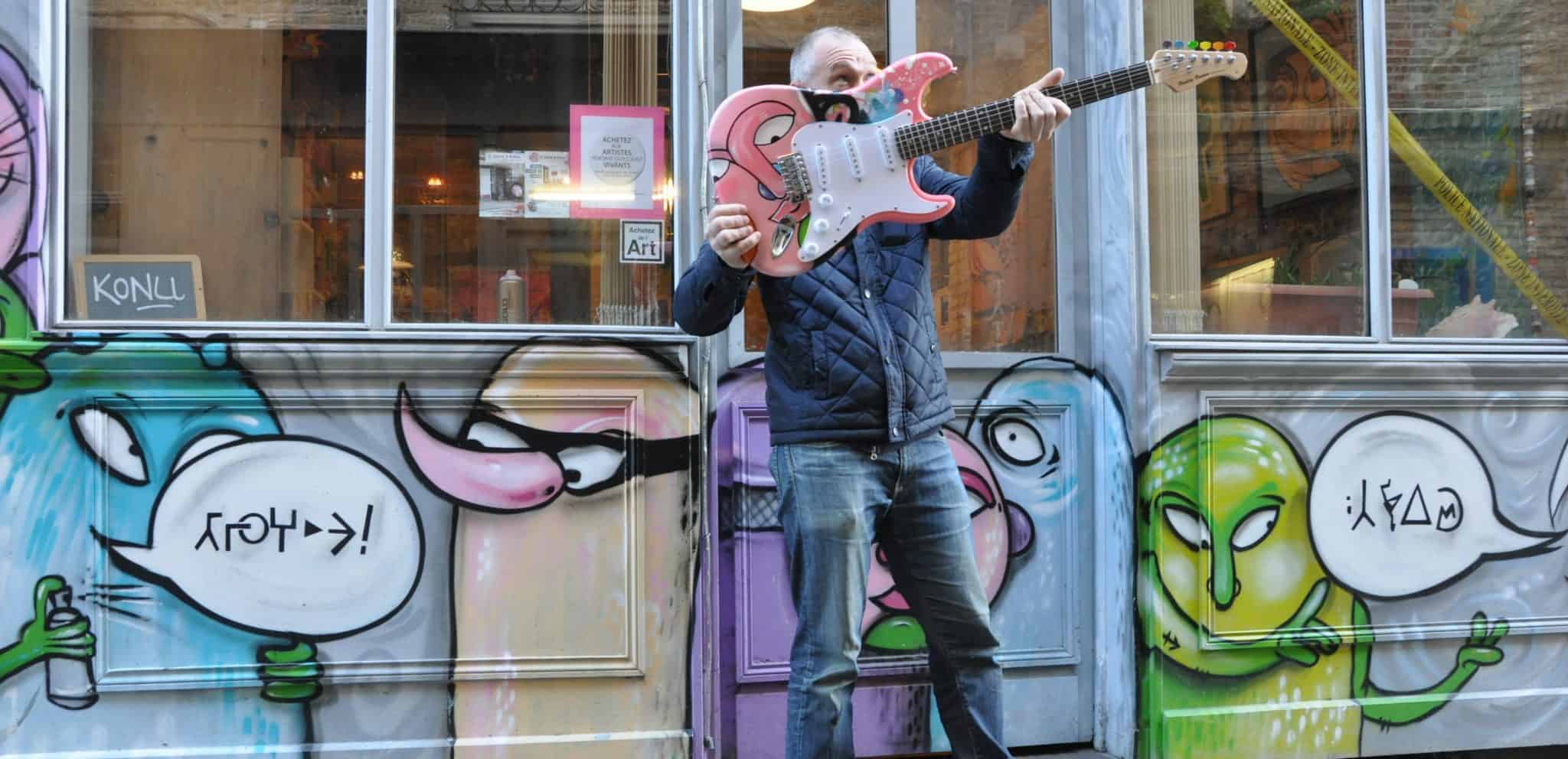 Konu customise guitare enchères Bataclan