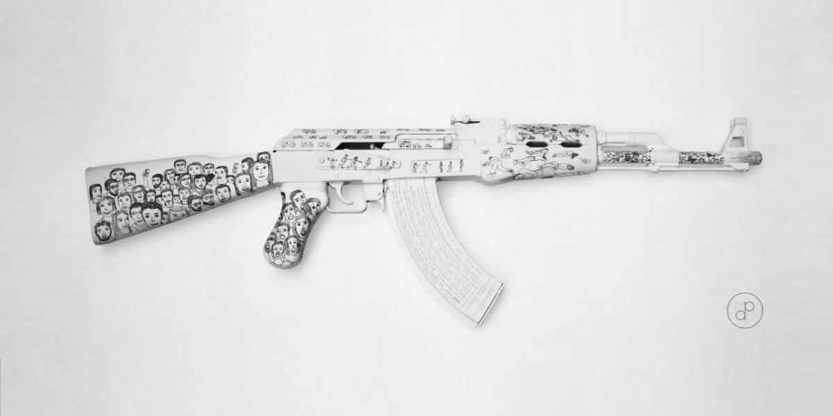 Margaux de Pentfentenyo AK47 customisé enchères bataclan