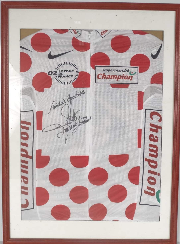 maillot de Laurent Jalabert dédicacé aux enchères pour Noël
