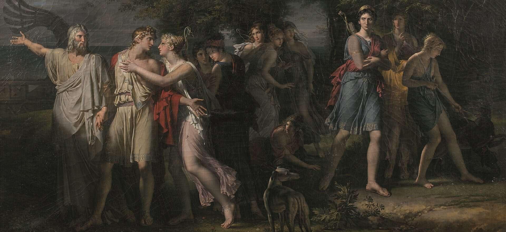 Le Tableau Redecouvert D Un Maitre Du Neoclassicisme Aux Encheres Auctionlab