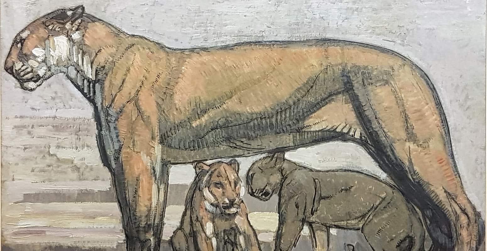 lionne tableau animalier Paul Jouve enchères