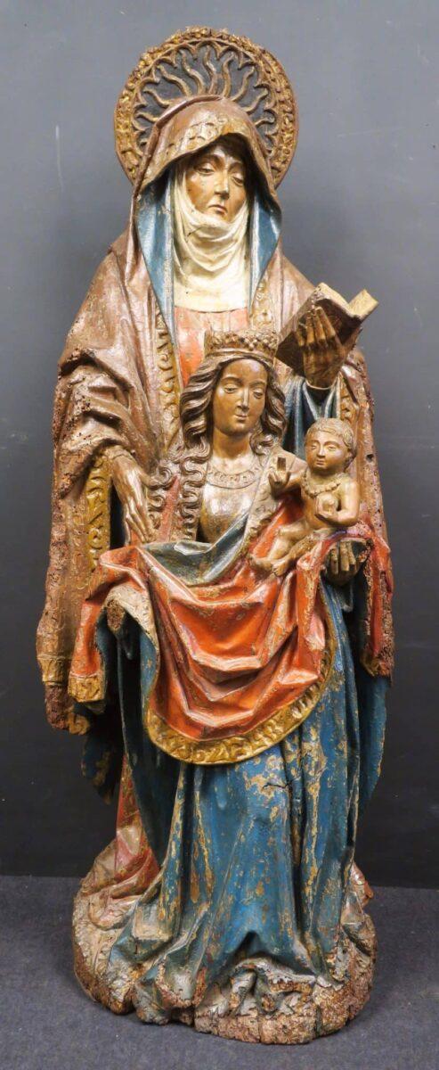 sculpture sainte anne trinitaire enchères
