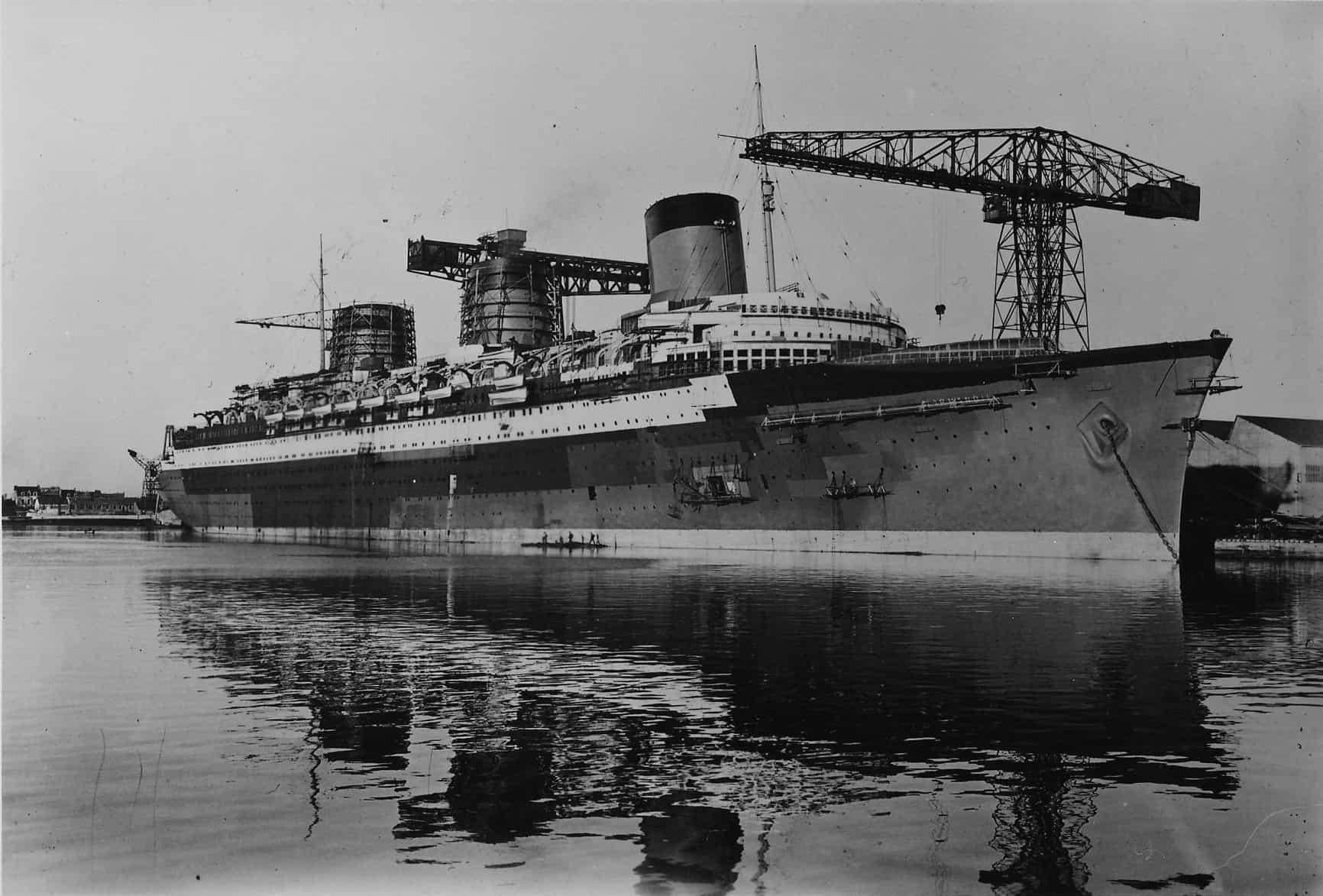 construction navire le Normandie