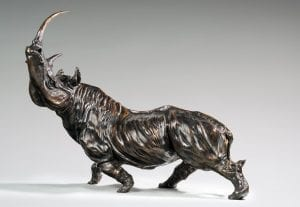 Rhinoceros bestaire bronze encheres
