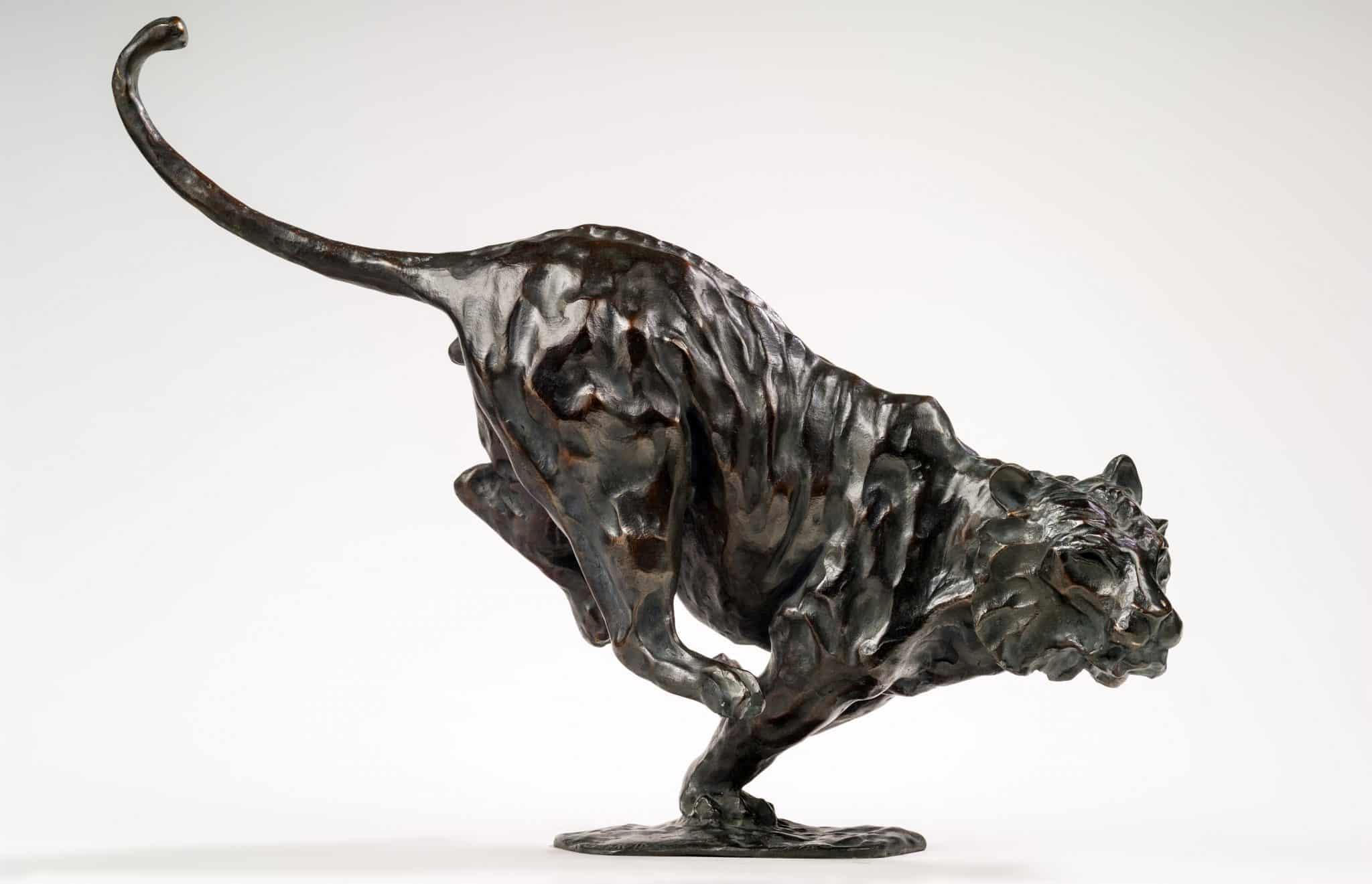 Tigre sculpture bronze aux enchères
