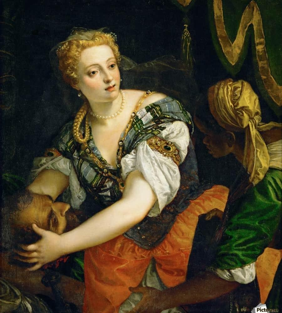 Judith avec la tête d'Holopherne, Véronnèse, 1575-1580. Huile sur toile. Kunsthistorisches Museum, Vienne.