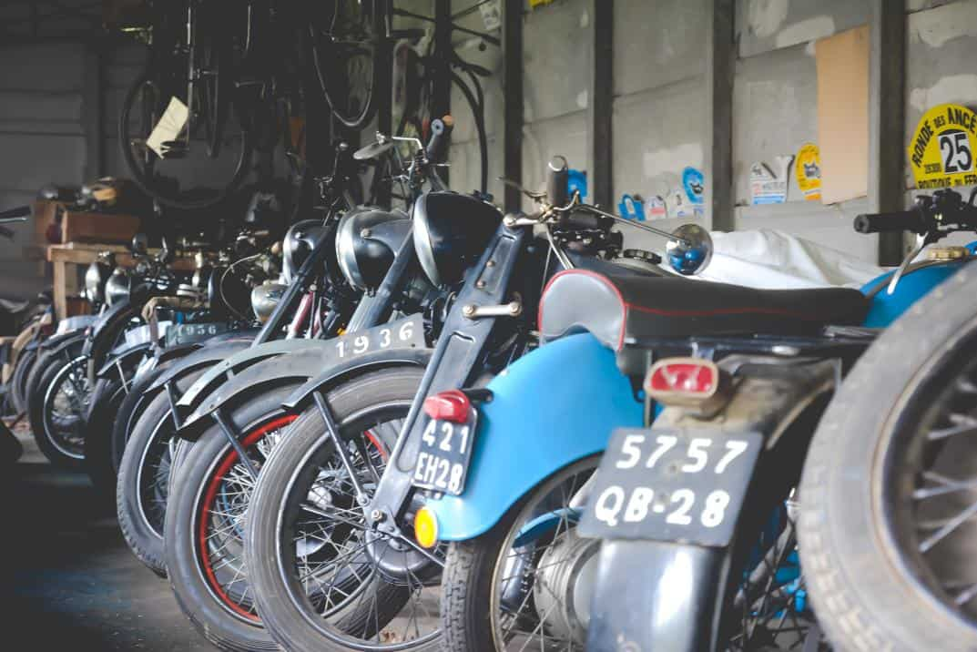 Exceptional collection of 70 motorcycles from 1910 to 1975 sale Ivory Chartres