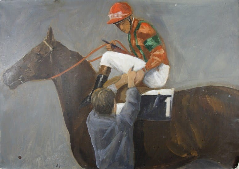 Robert Ladou - Painting: The jockey
