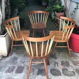 "George Nakashima - Lot de 4 chaises "" Straight chairs """
