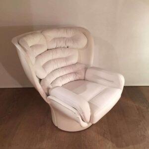 Joe Colombo - fauteuil Elda blanc
