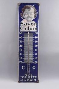 Savon Cadum plaque émaillée