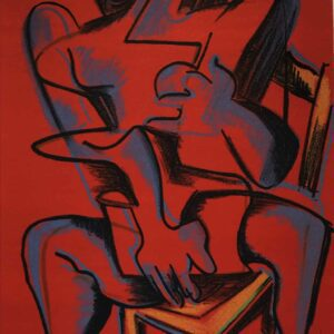 Lithographie Zadkine Travaux Hercule Rouge