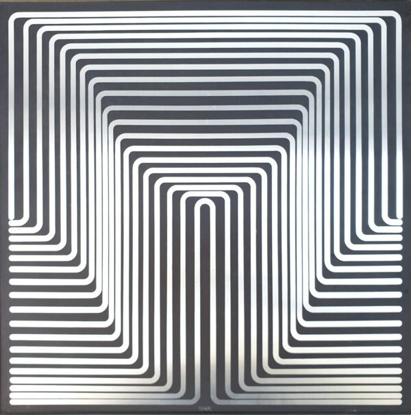 Jean-Pierre Yvaral - Structure en progression positif - 1972