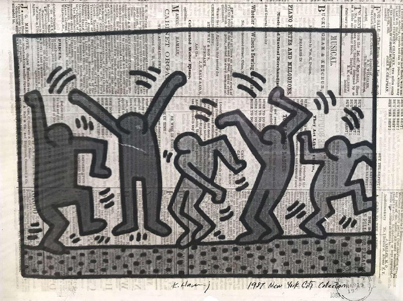 Keith HARING – New York City collection – 1981