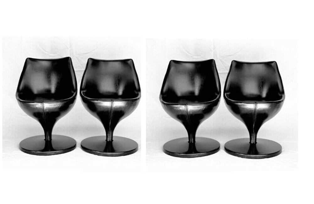 Pierre GUARICHE - Set of 4 Polaris chairs, circa 1970