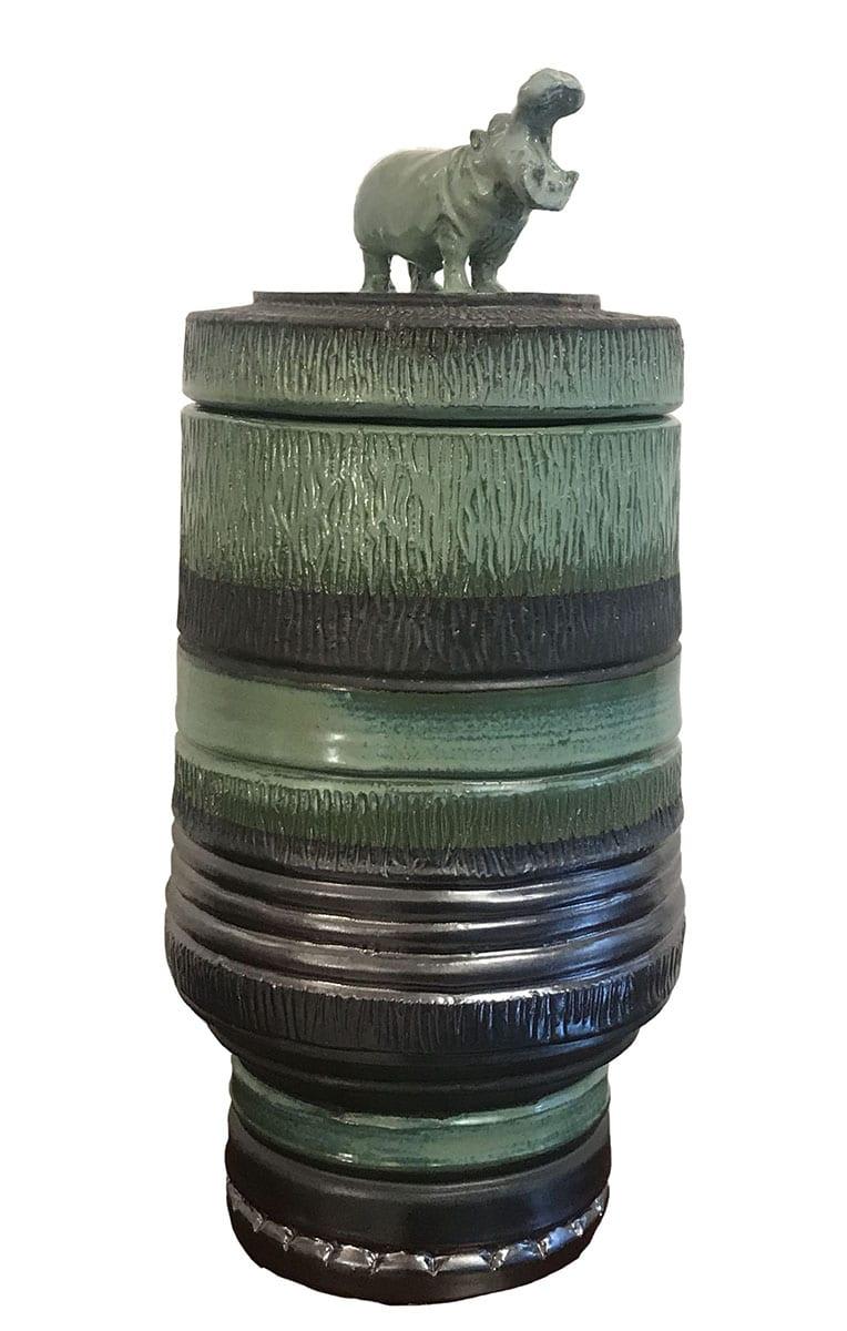 Michel FEDI - L'hippopotame, 2013 - Vase / pot en céramique