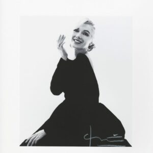 Bert Stern- Marilyn new black Dress - Photographie