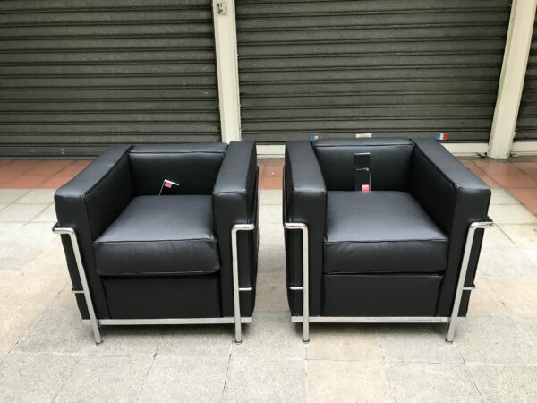 Le Corbusier / Charlotte Perriand - Pair of LC2 Armchairs
