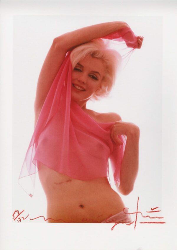 Bert Stern - Marilyn Monroe pink angel