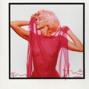 Bert Stern - Marilyn Monroe fuscia scarf profile