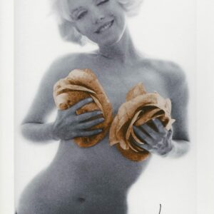 Bert Stern - Marilyn Monroe gold apricot wink Roses