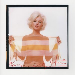 Bert Stern - Marilyn Monroe in striped scarf