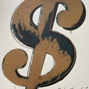 Andy Warhol - Dollar gold - GranolithographieAndy Warhol - Dollar gold - Granolithographie
