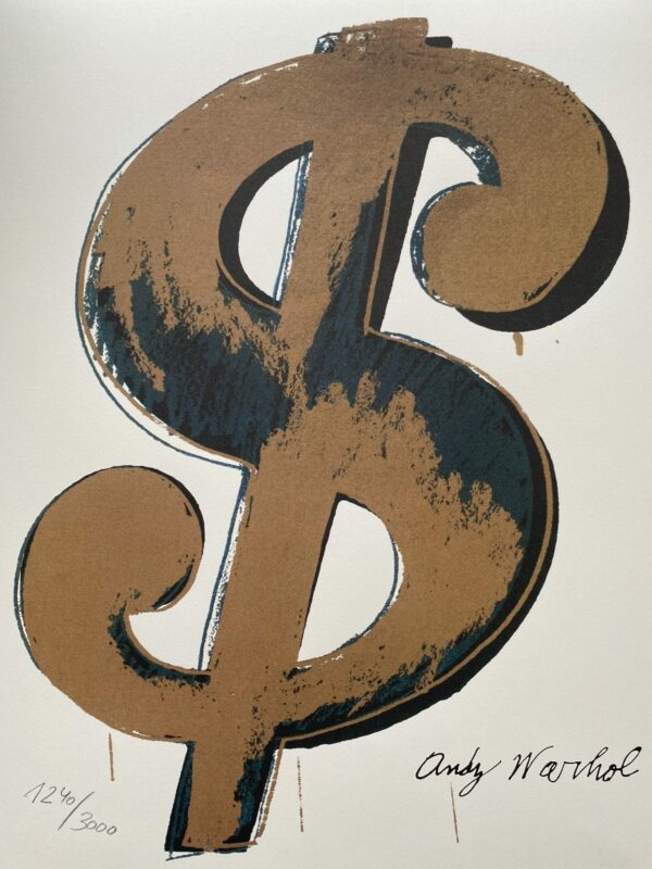 Andy Warhol - Dollar gold - GranolithographyAndy Warhol - Dollar gold - Granolithography