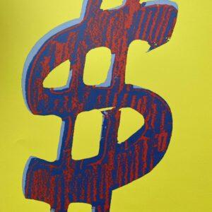Andy Warhol Red Dollar / yellow