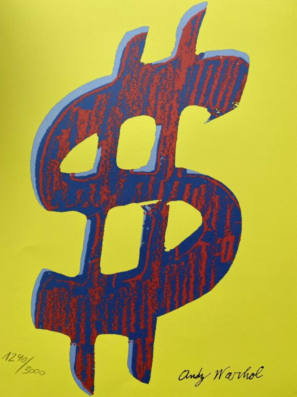 Andy Warhol Red Dollar / yellow
