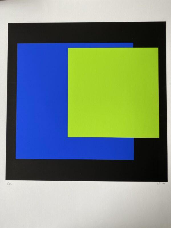 Geneviève Claisse - Structure géométrique - Sérigraphie
