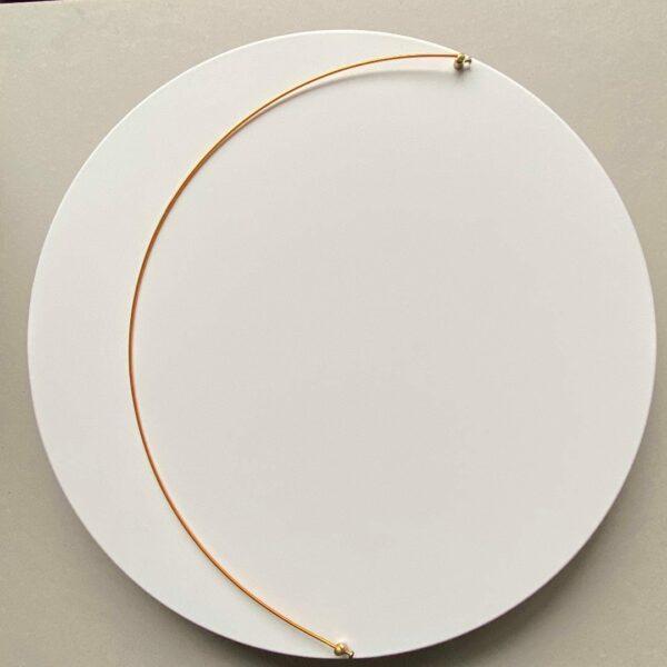 Bruno Bani - Moon W - Applique sculpture