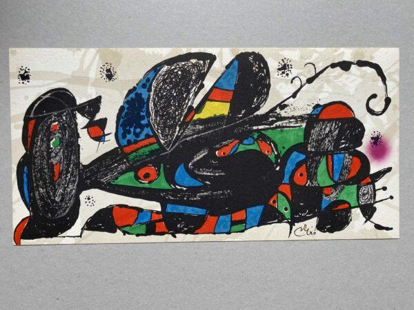 Joan Miró -Lithographie- Miro Sculpteur : Iran
