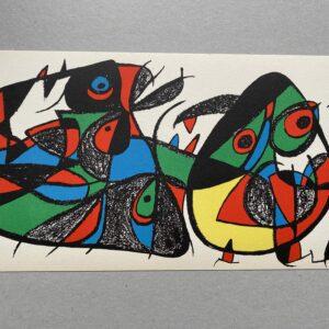 Joan Miró -Lithographie- Miro Sculpteur : Italie