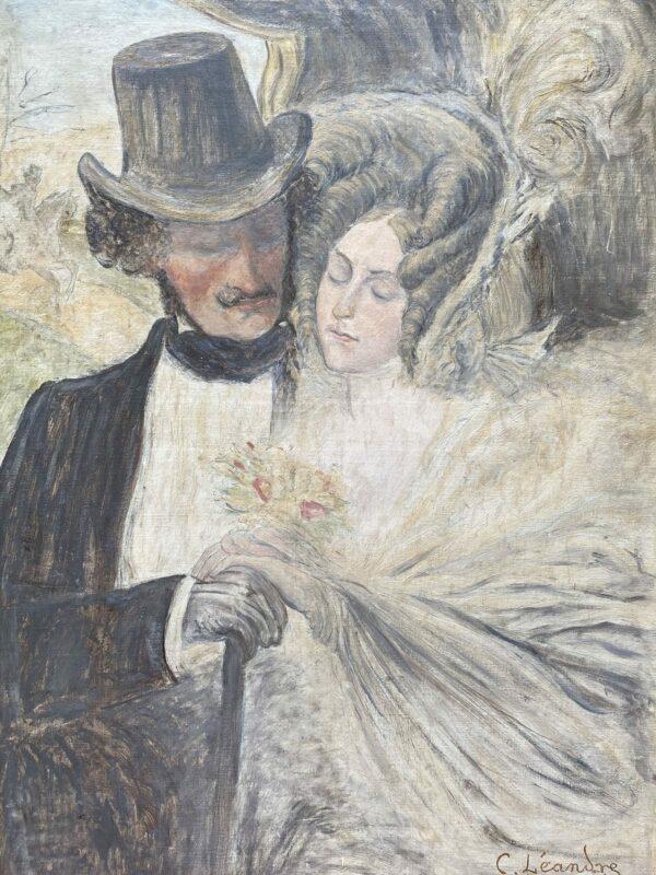 Charles Léandre - Les amoureux - 1925