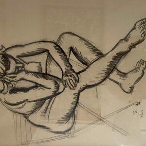 Jean Helion - Nu à la chaise