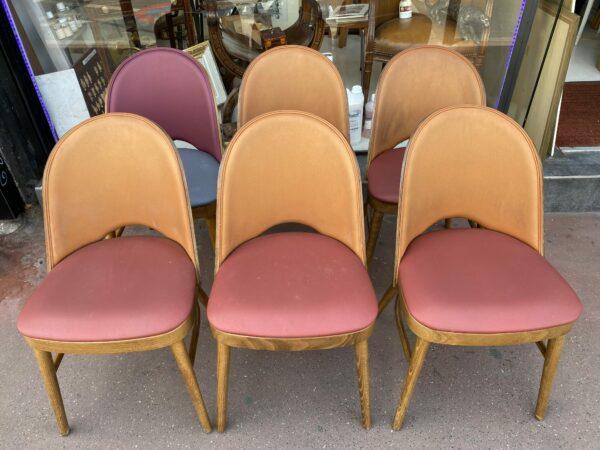 Belle série de 6 chaises Tonneau