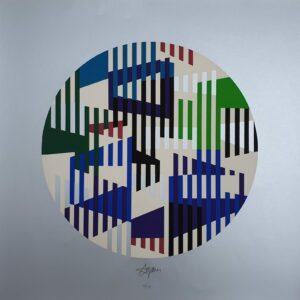 Yaacov AGAM - Untitled silver, 1979 - Sérigraphie signée au crayon