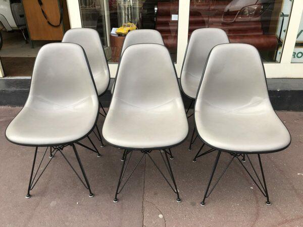 Charles EAMES - Lot de 6 chaises DSW - Circa 1970